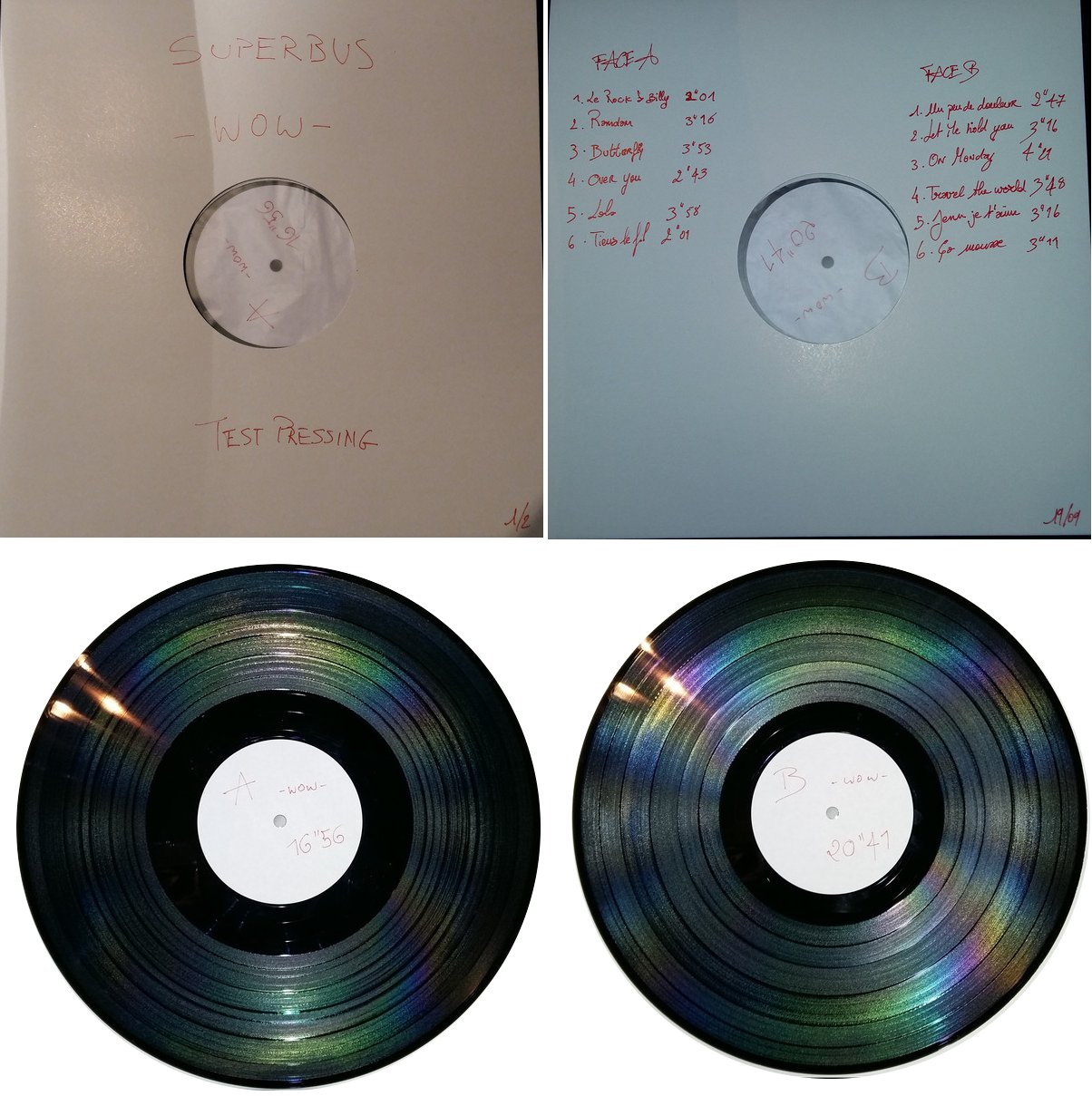 TEST PRESSING LP WOW
